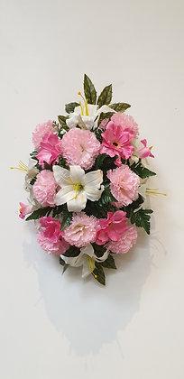Coussin Rose / Blanc (BU130)
