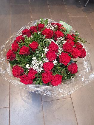Bouquet de roses rouge passion