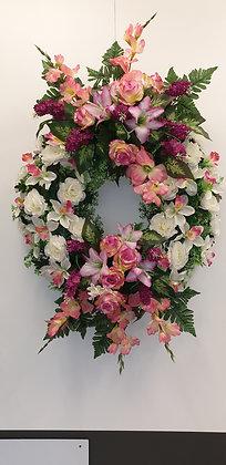 Couronne Fuchsia/Rose/Blanc (COU012)