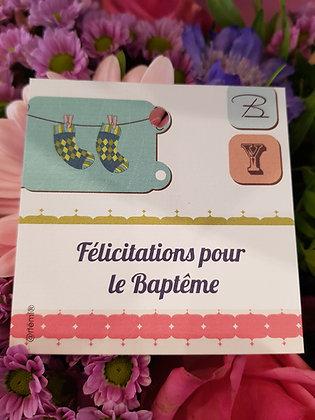Félicitations pour le Baptême