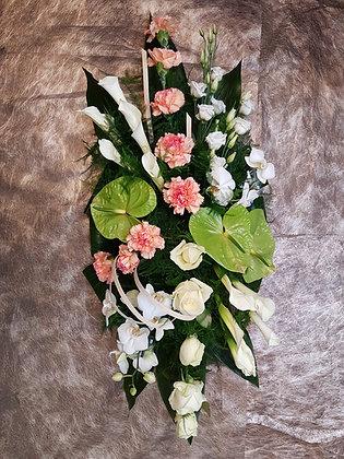 Coussin Rose / Blanc (CN293)