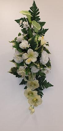 Coussin Blanc / Vert (BU059)