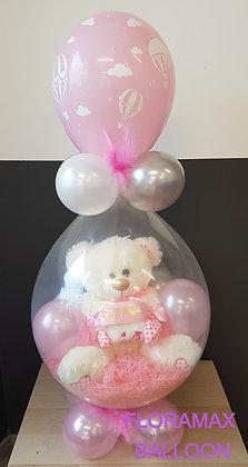Ballon magique ours bonbon rose   Ref  :  BM2037