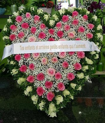 Cœur  Rose/Fuchsia/Blanc (CN105)