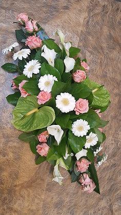 Coussin Rose / Blanc (CN32)