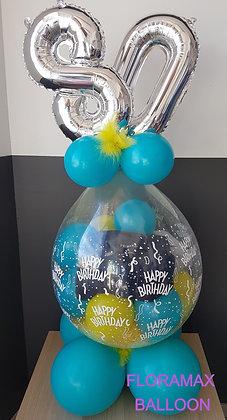 Ballon avec votre cadeau à l'intérieur