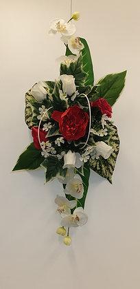 Coussin Rouge / Blanc (BU057)