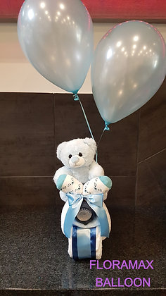 Moto ours avec ballons