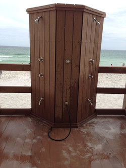 Shower off the beach