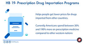 HB 19- Prescription Drug Importation Pro