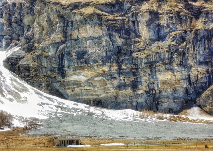 Terrain de foot en montagne