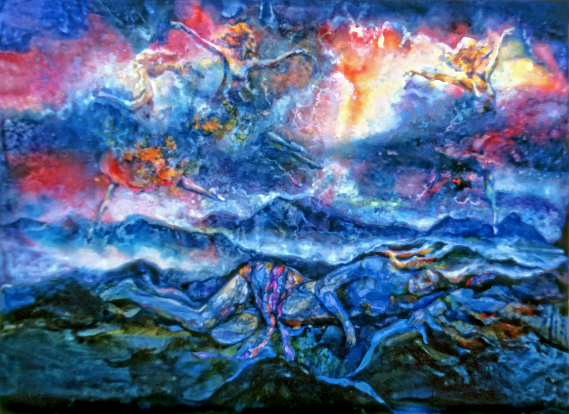 1981 - DREAM DANCERS - Watercolor and Oil - 30X60