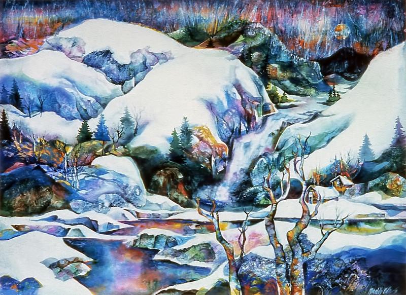 1973 – WINTER SNOW - Watercolor on Board - 30X40