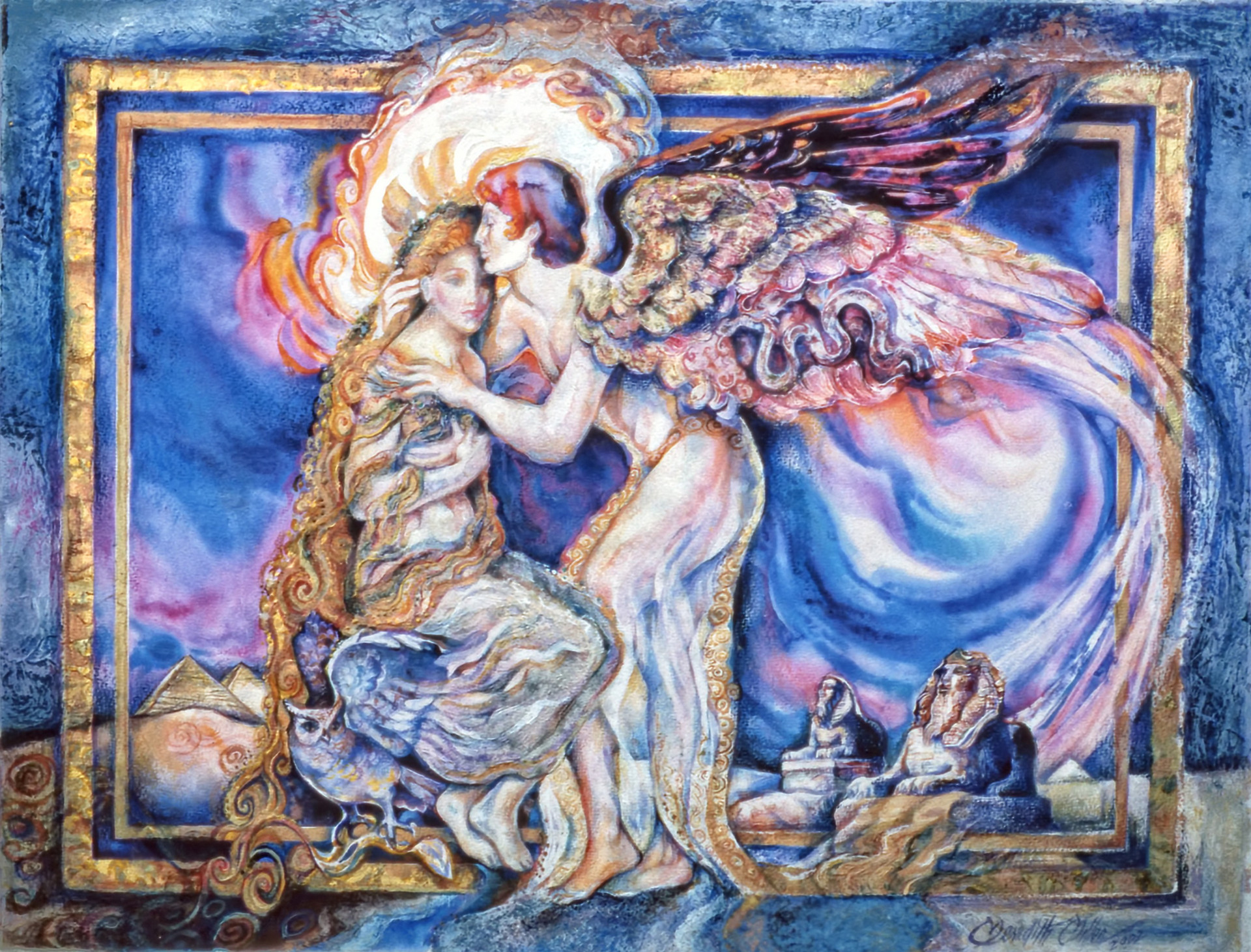 2002 - TOUCH OF THE BELOVED - Mixed Meida with Oil - 24X30