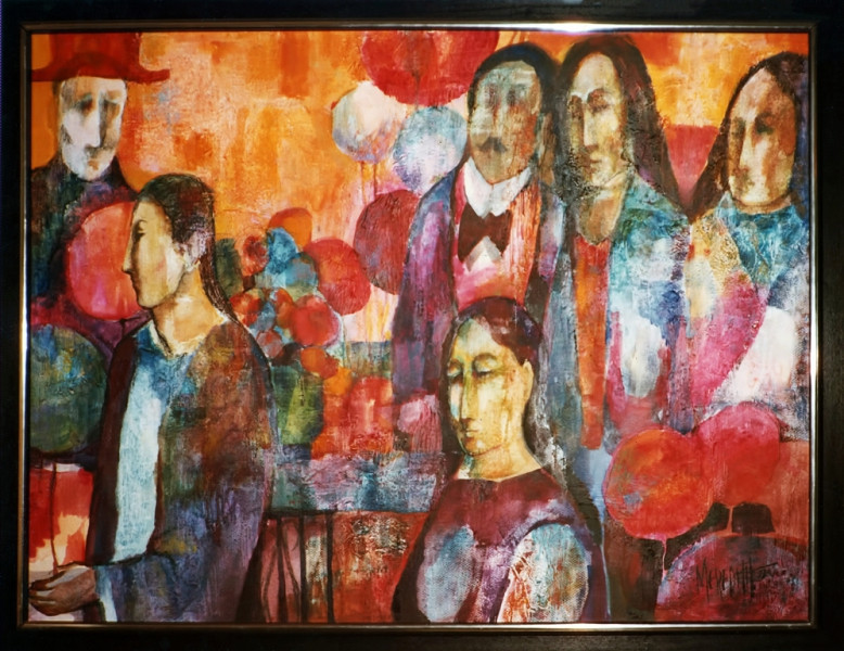 1974 - FAMILY PARADE- Oil on Board - 30X40