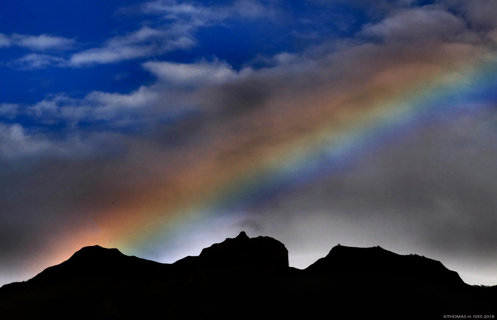 Mandango Mountain with Rainbow