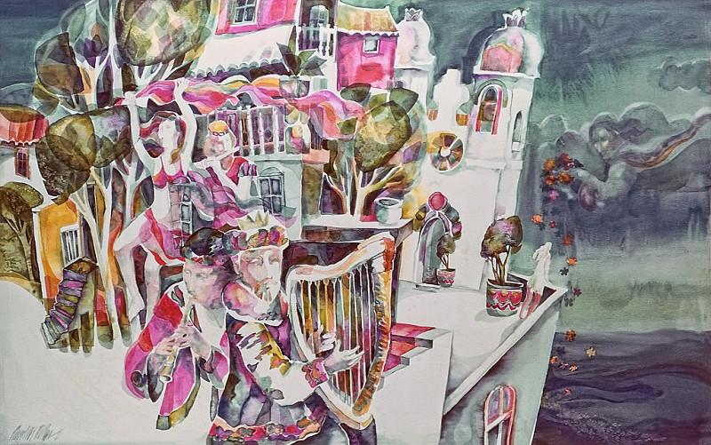 1975 – BAROQUE DREAMS - Watercolor on Board - 60X80