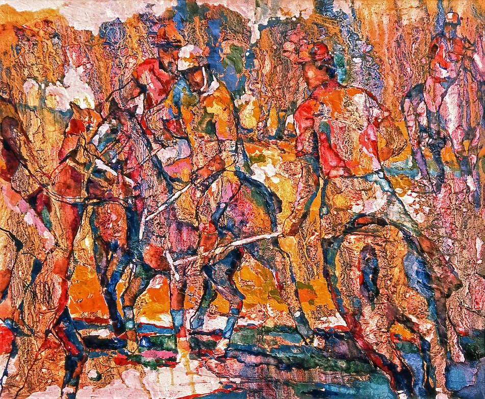 1980 - POLO PLAY - Oil on Canvas - 25X30