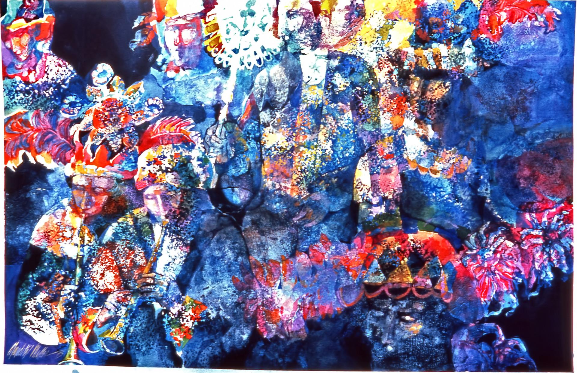 1976 - PARADE - Watercolor on Board 40X60