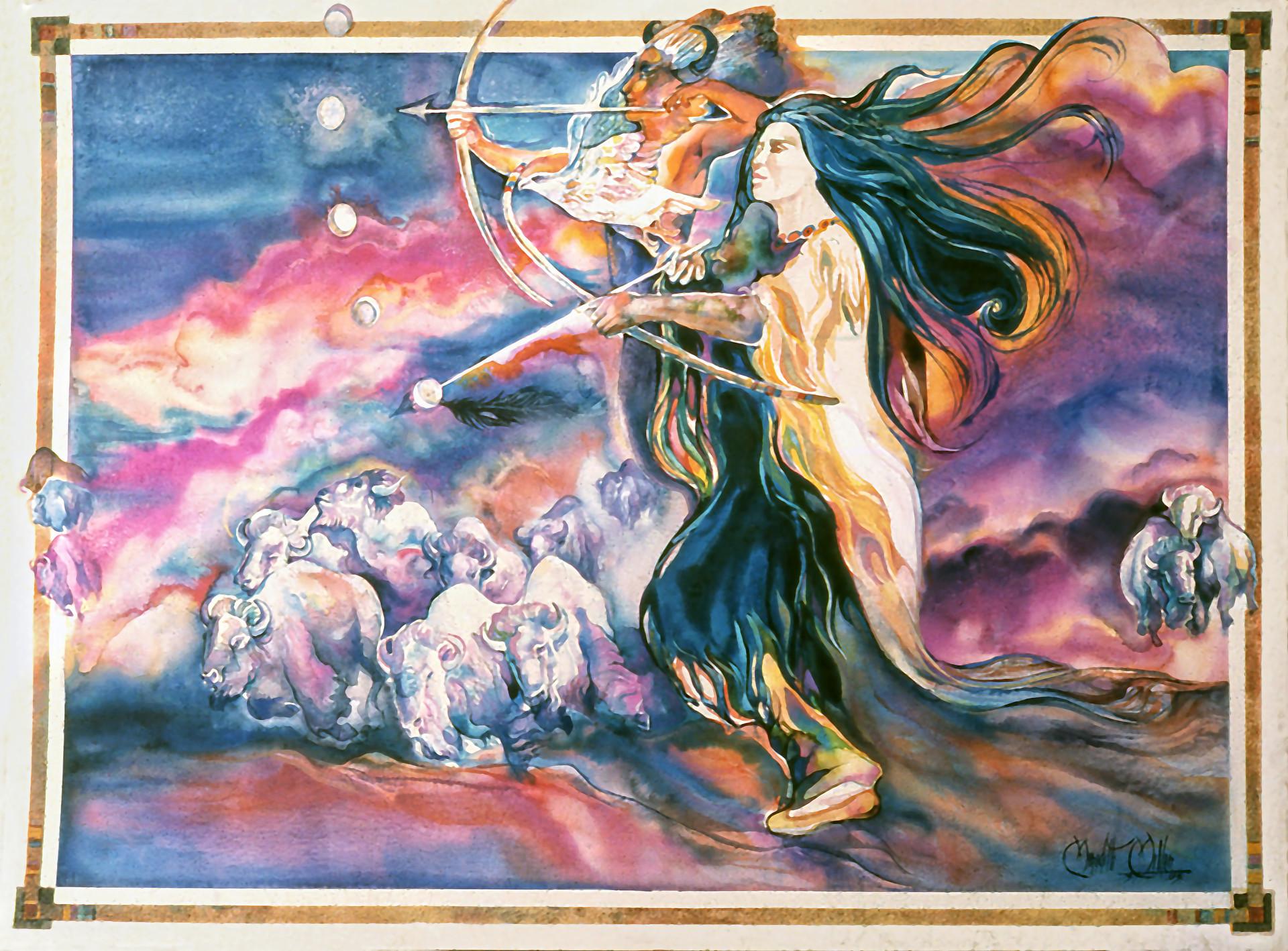 1993 - BUFFALO ARCHERS - Watercolor - 30X40