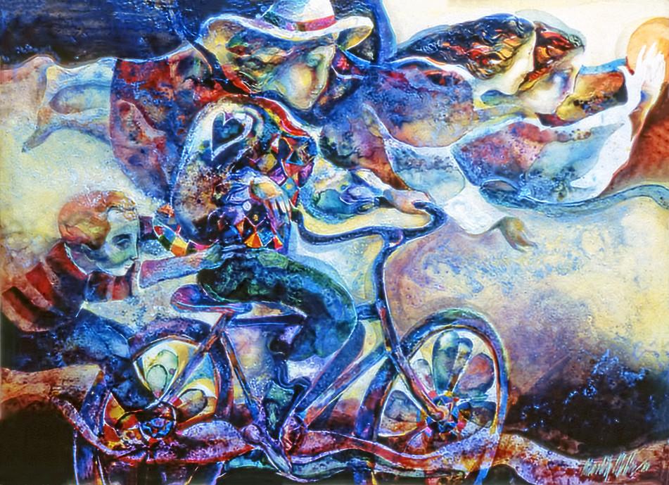 1983 - JOY RIDE - Watercolor and Oil - 30X40
