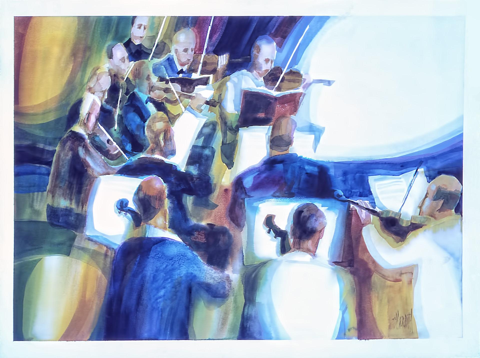1976 - SAILING INTO SOUND - Watercolor on Board - 30X40