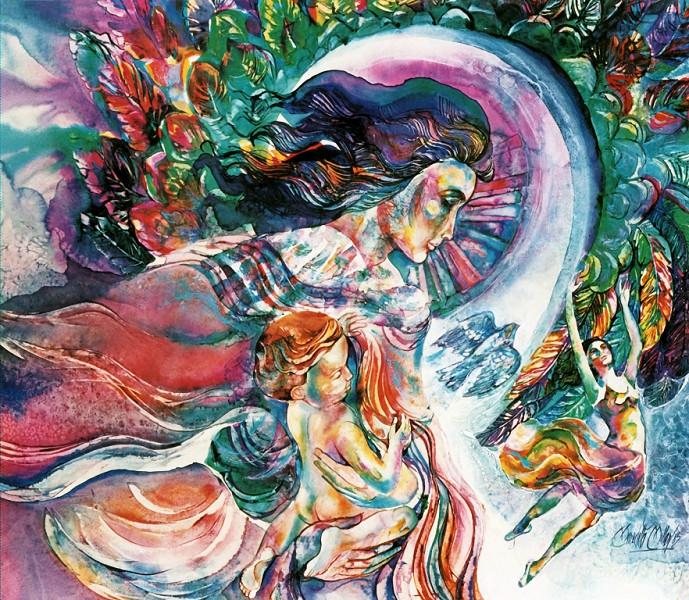 1981 - GUARDIAN OF INNOCENCE - Watercolor on Board - 30X40
