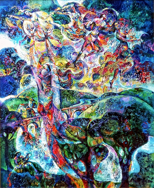 1975 – DANCE OF LIFE - Oil and Acrylic on Canvas - 40X50