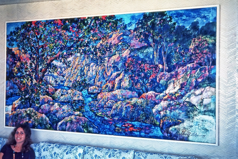 1975 - JEWELS OF LIGHT LANDSCAPE - Oil on Canvas – 9ft by 4ft