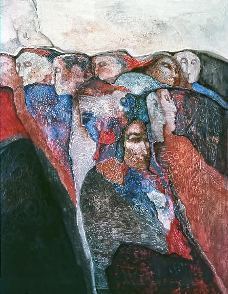 1972 – NO VOICE - Oil on Canvas - 60X80