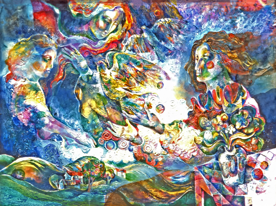 1984 - GIFT OF PEACE - Watercolor and Oil - 30X40