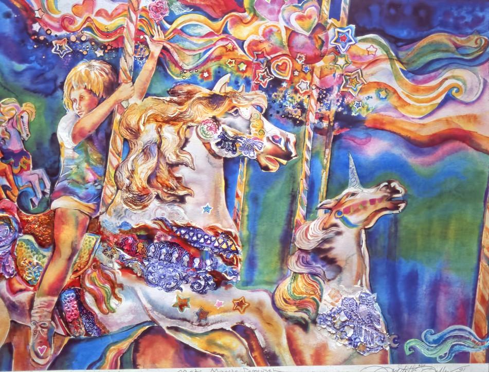 1991 - CAROUSEL MAGIC - Watercolor - 30X40