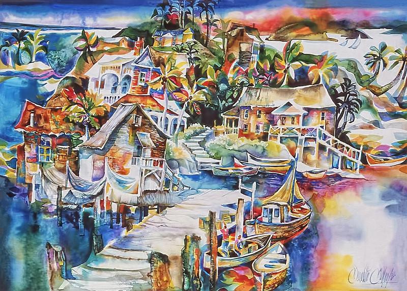 1975 - CARIBBEAN RHAPSODY - Watercolor on Board - 30X40