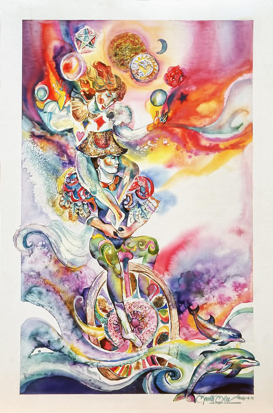 1991 - COSMIC BALANCE - Watercolor - 20X30