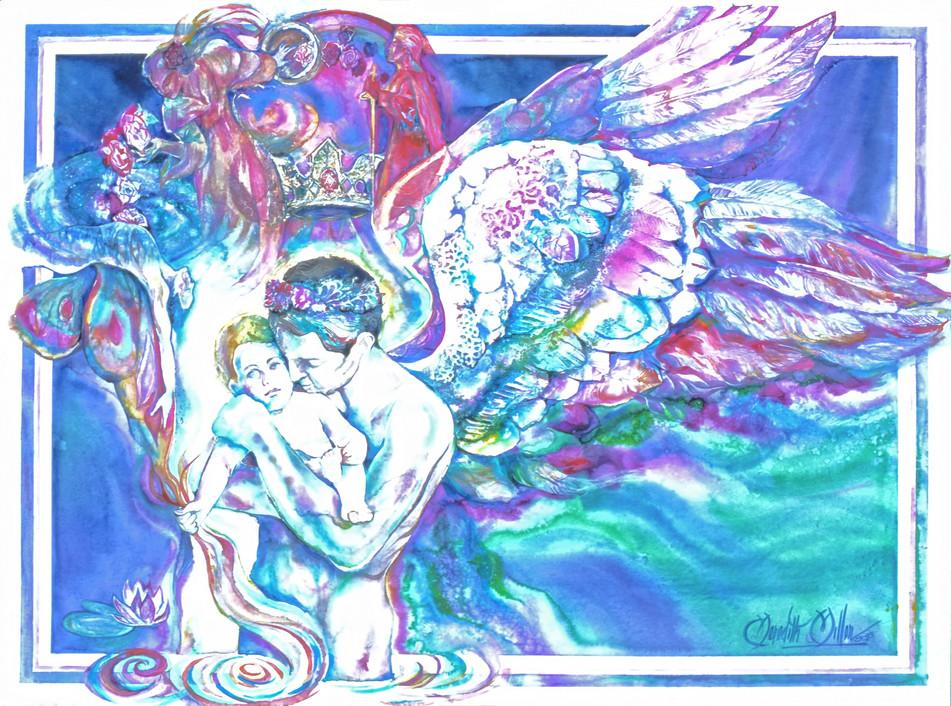 1993 - SURRENDER OF MAN - Watercolor - 30X40