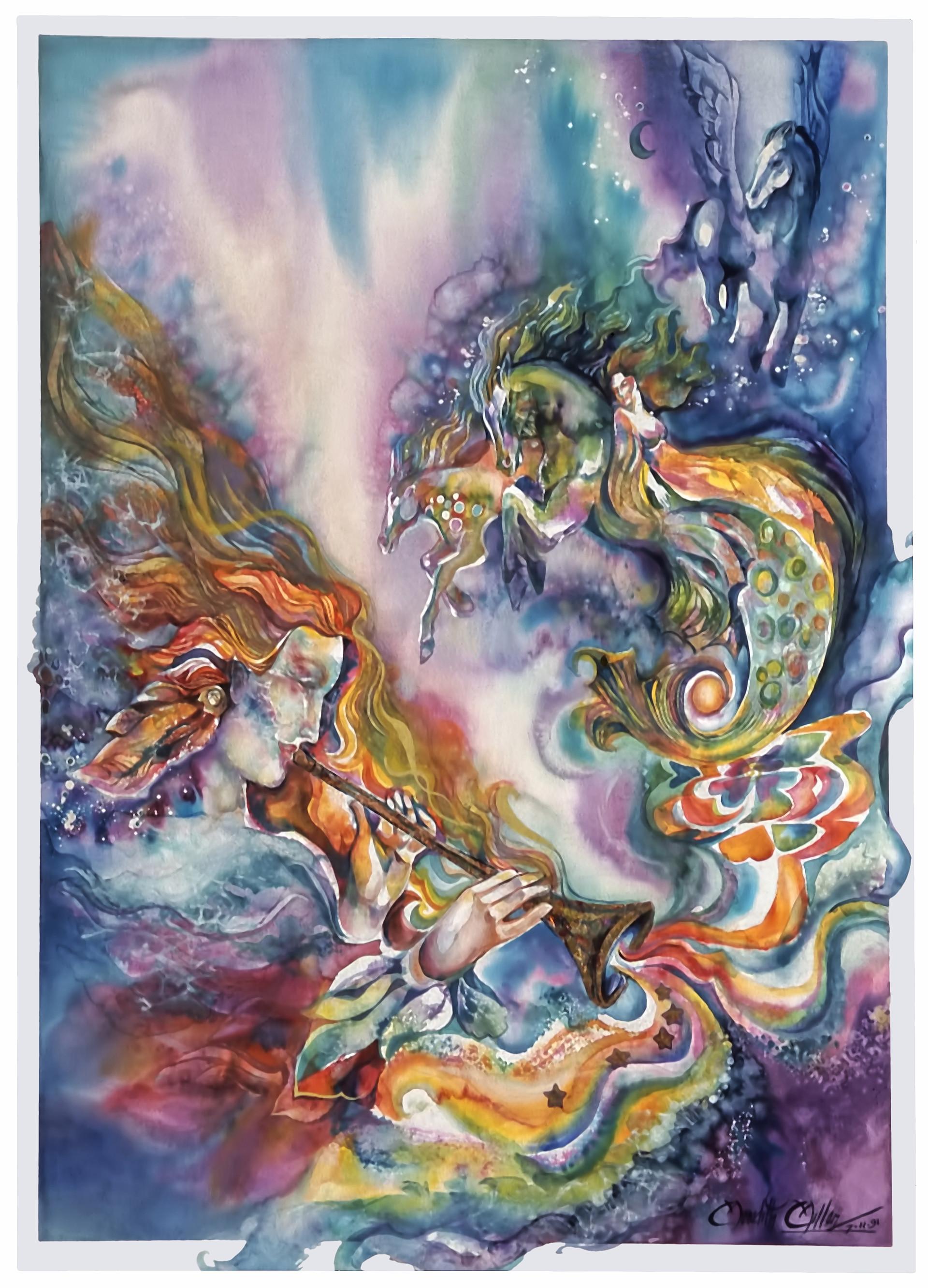 1991 - HERALDER OF DREAMS - Watercolor and Oil - 30X40