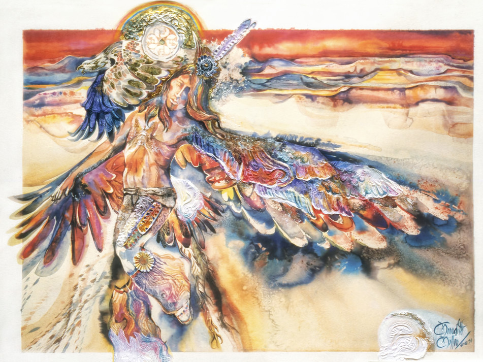 1991 - EARTH SKY DANCER - Watercolor -30X40