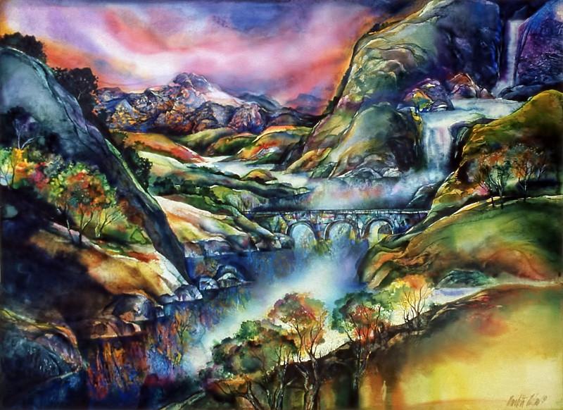 1973 – COLORADO DREAM - Watercolor on Board - 30X40