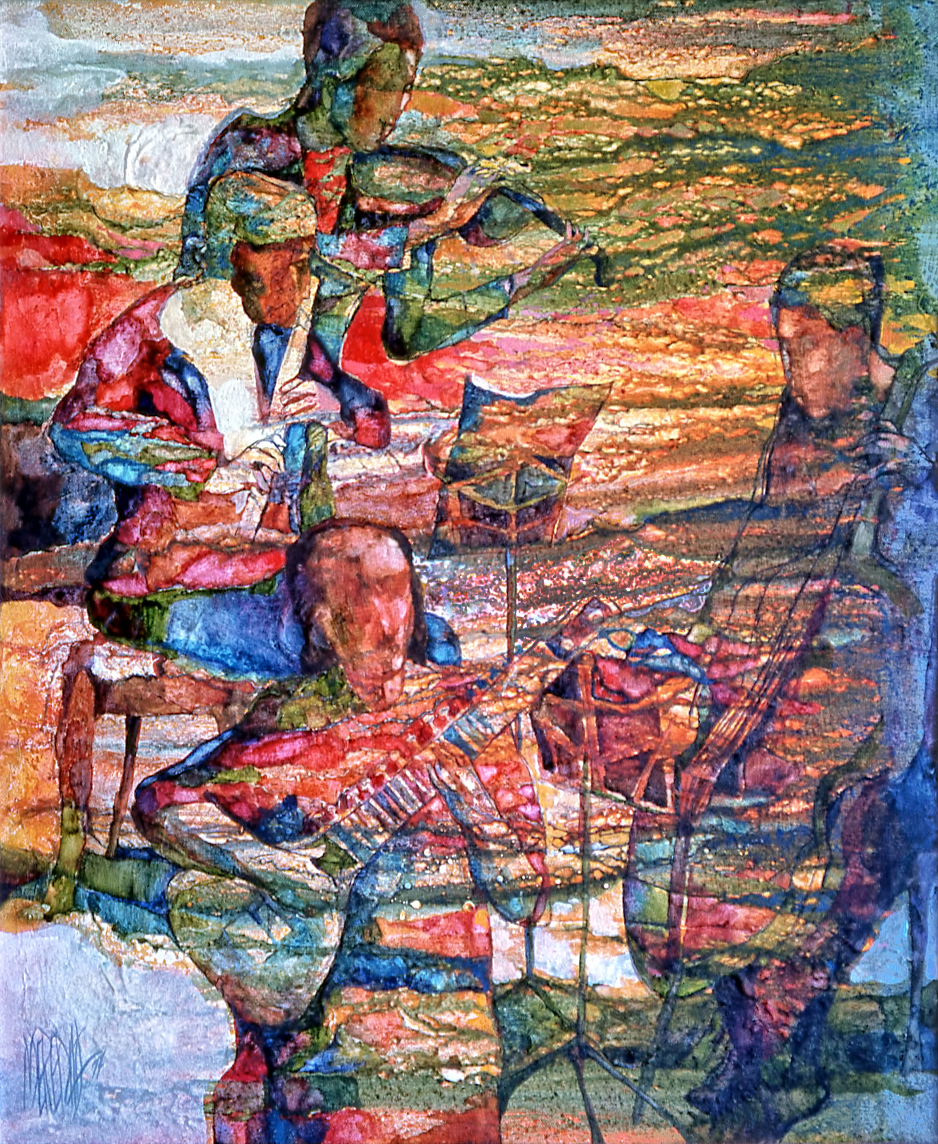 1976 - MUSICAL TAPESTRY - Oil on Canvas - 20X30