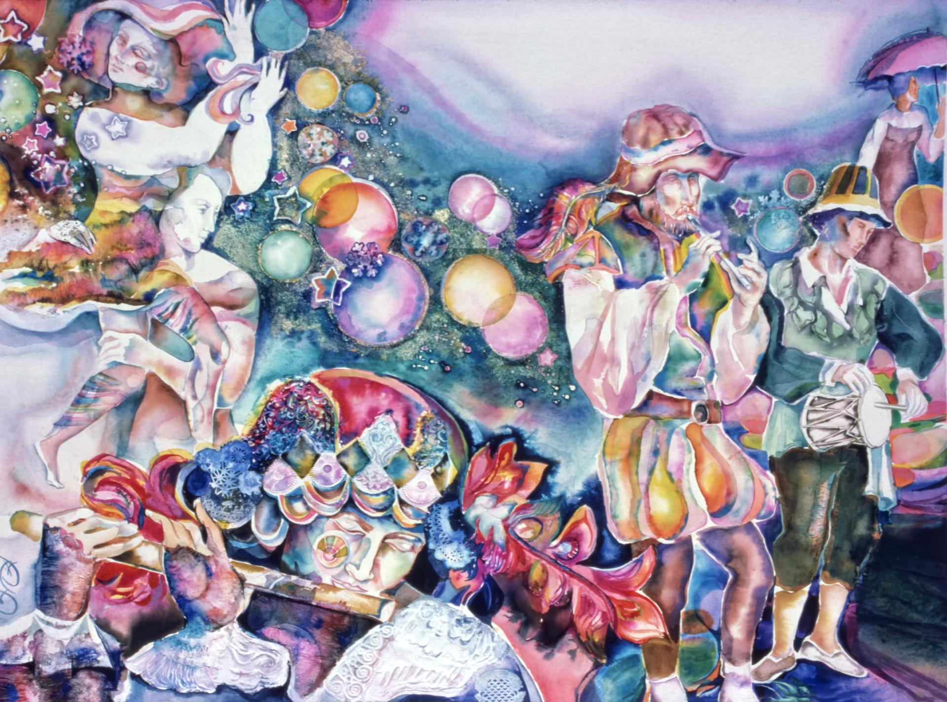 1974 - CELESTIAL TROUBADOR - Watercolor - 30X40