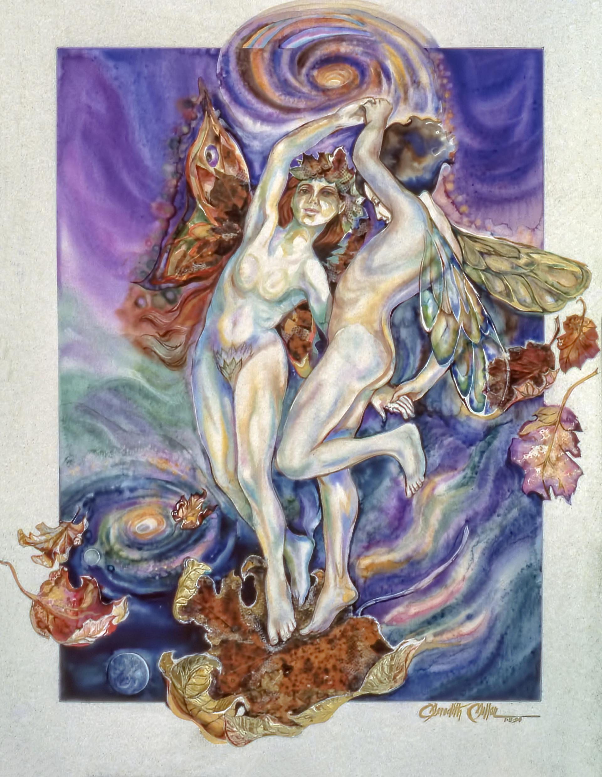 1990 - DANCING THE VORTEXES - Watercolor - 30X40