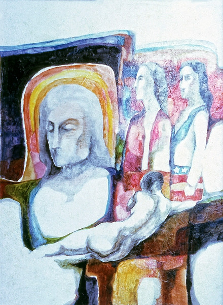 1973 – WOMEN WITHOUT RIGHTS - Oil Wash on Canvas - 25X30