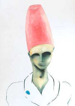 Young man with a hat (sold)