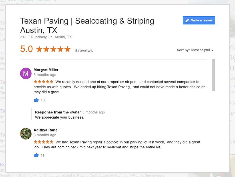 Paving Reviews in Austin, TX