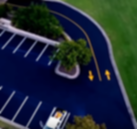 Striping a parking lot