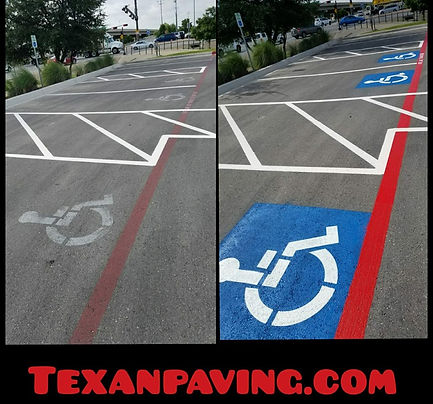 Parking lot striping experts | Texan Paving