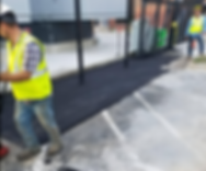 Compacting an asphalt patch in Austin, TX   Asphalt Contractors