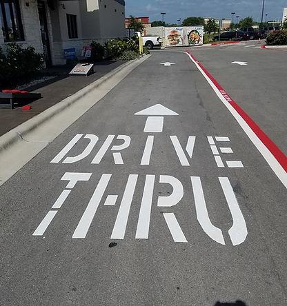 Drive thru striping | Pavement Markings