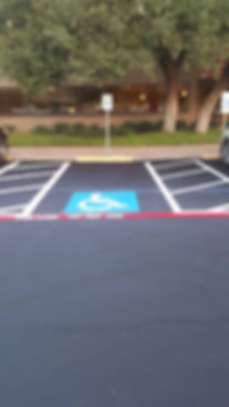 Parking lot Sealcoating maintenance in Georgetown, TX