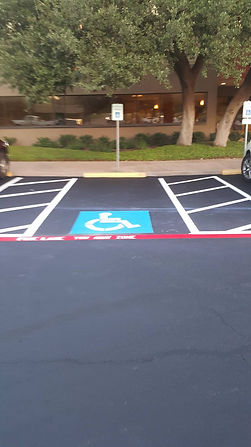 Commercial parking lot painting in Temple, TX